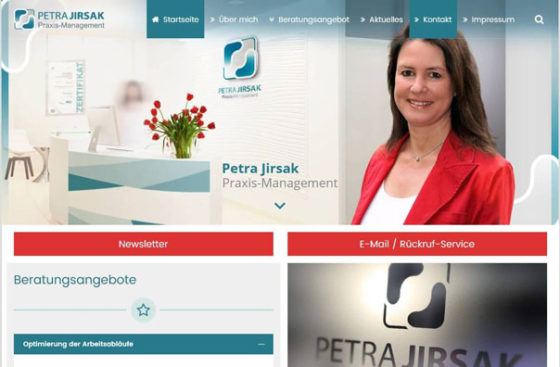Webdesign für Petra Jirsak Praxis-Management