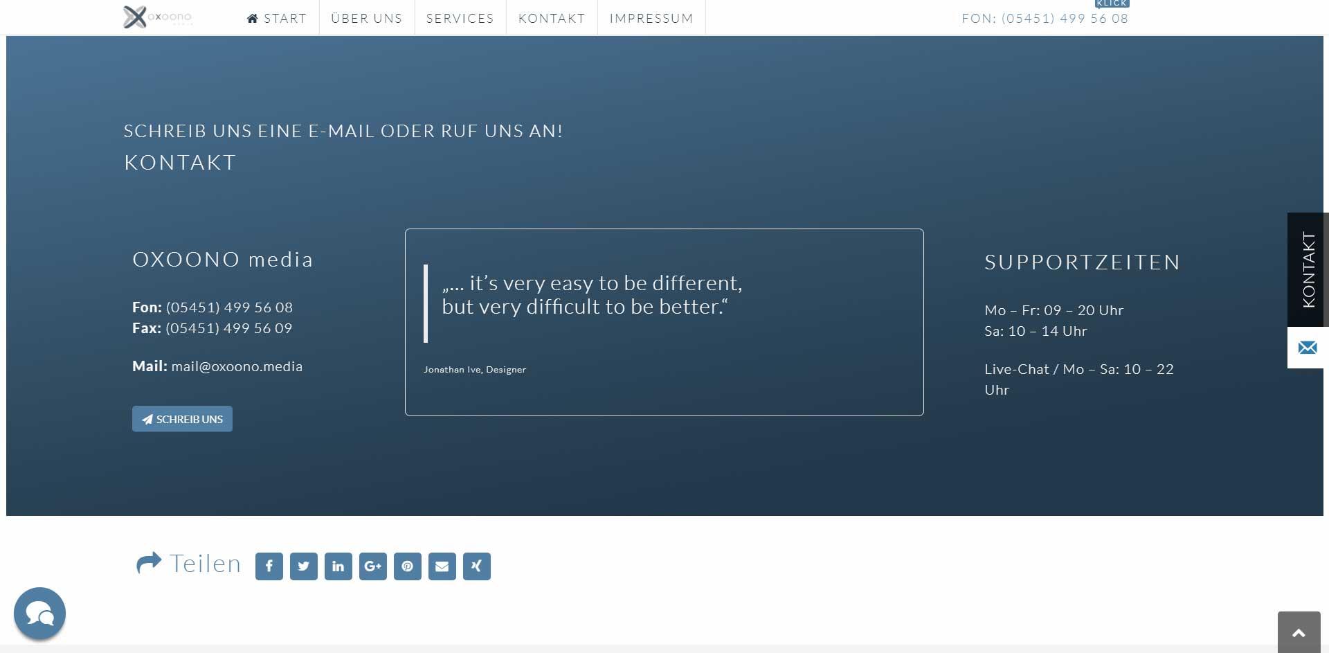 Webdesigner Ibbenbüren | Webdesign Referenz