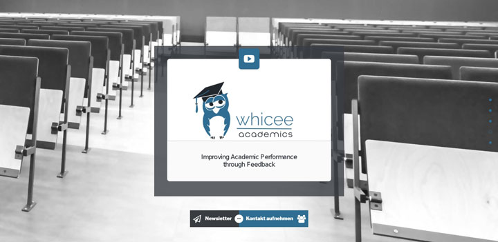 Whicee Academics Landing-Page Webdesign