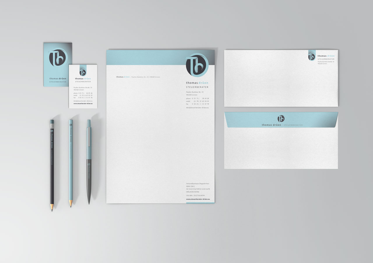 Thomas Drüen Steuerberater Corporate Design