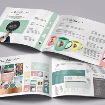 Kollektion Katalog Designkonzept