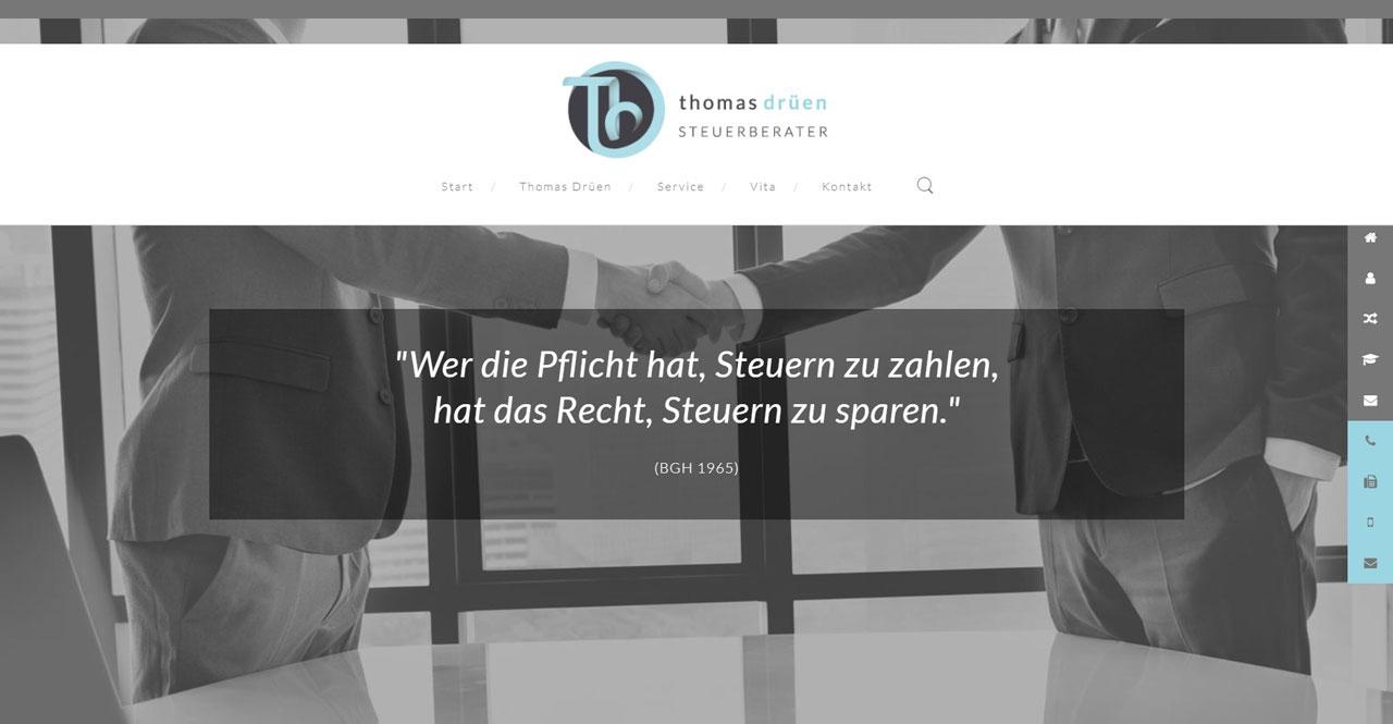 Webdesign Steuerberater Thomas Drüen Greven
