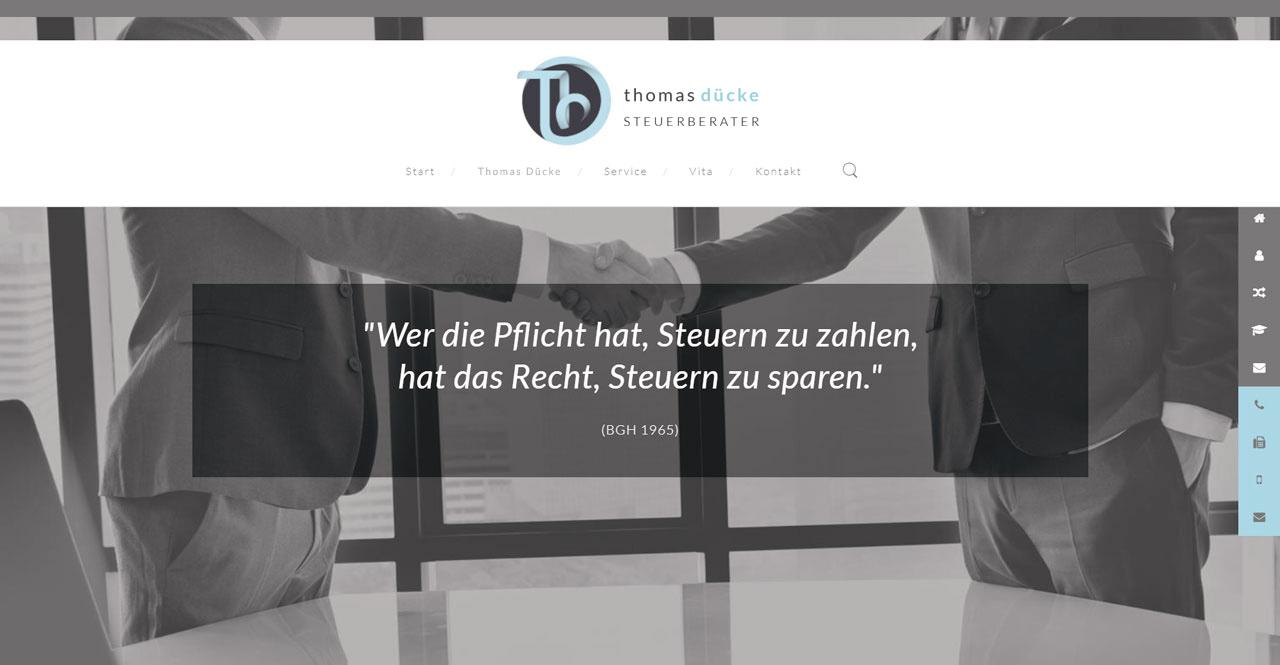 Webdesign Steuerbüro Thomas Dücke