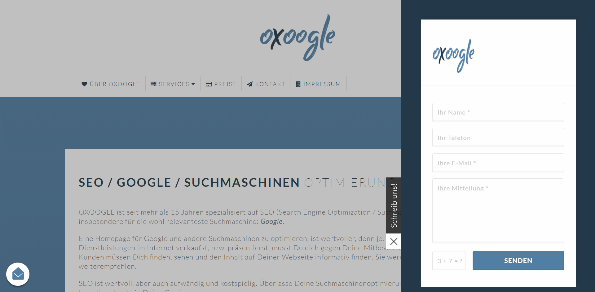 OXOOGLE SEO / Webdesign Referenz