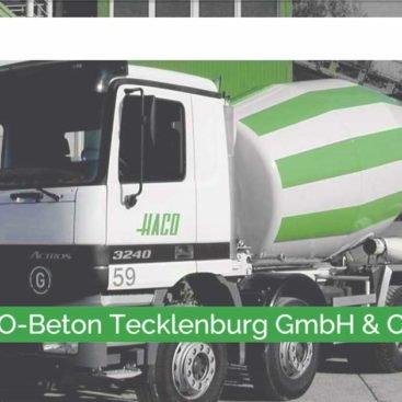 HACO Beton Tecklenburg/Ibbenbüren - Webdesign Referenz