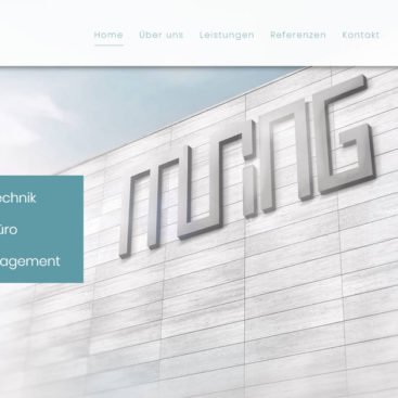 MURING Fassade - WordPress Webdesign Referenz