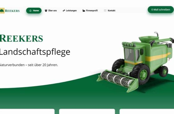 Reekers Landschaftspflege Ibbenbüren | Webdesign Referenz