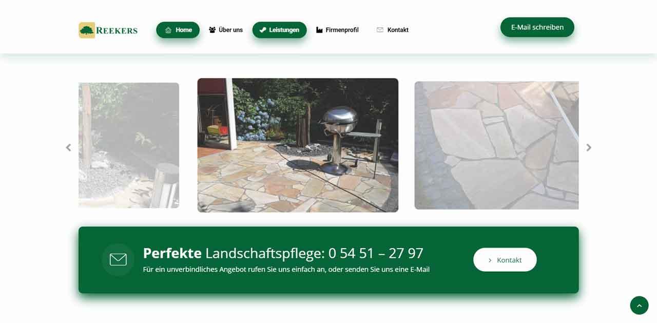 Reekers Landschaftspflege Ibbenbüren   Webdesign Referenz