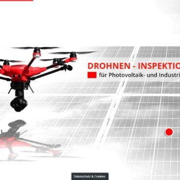 WordPress Webdesign Referenz - THERMFLY - Drohnen-Inspektion Photovoltaik