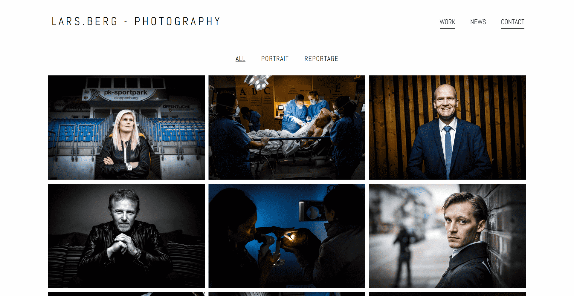 Lars Berg - Photography - WordPress Webdesign Referenz