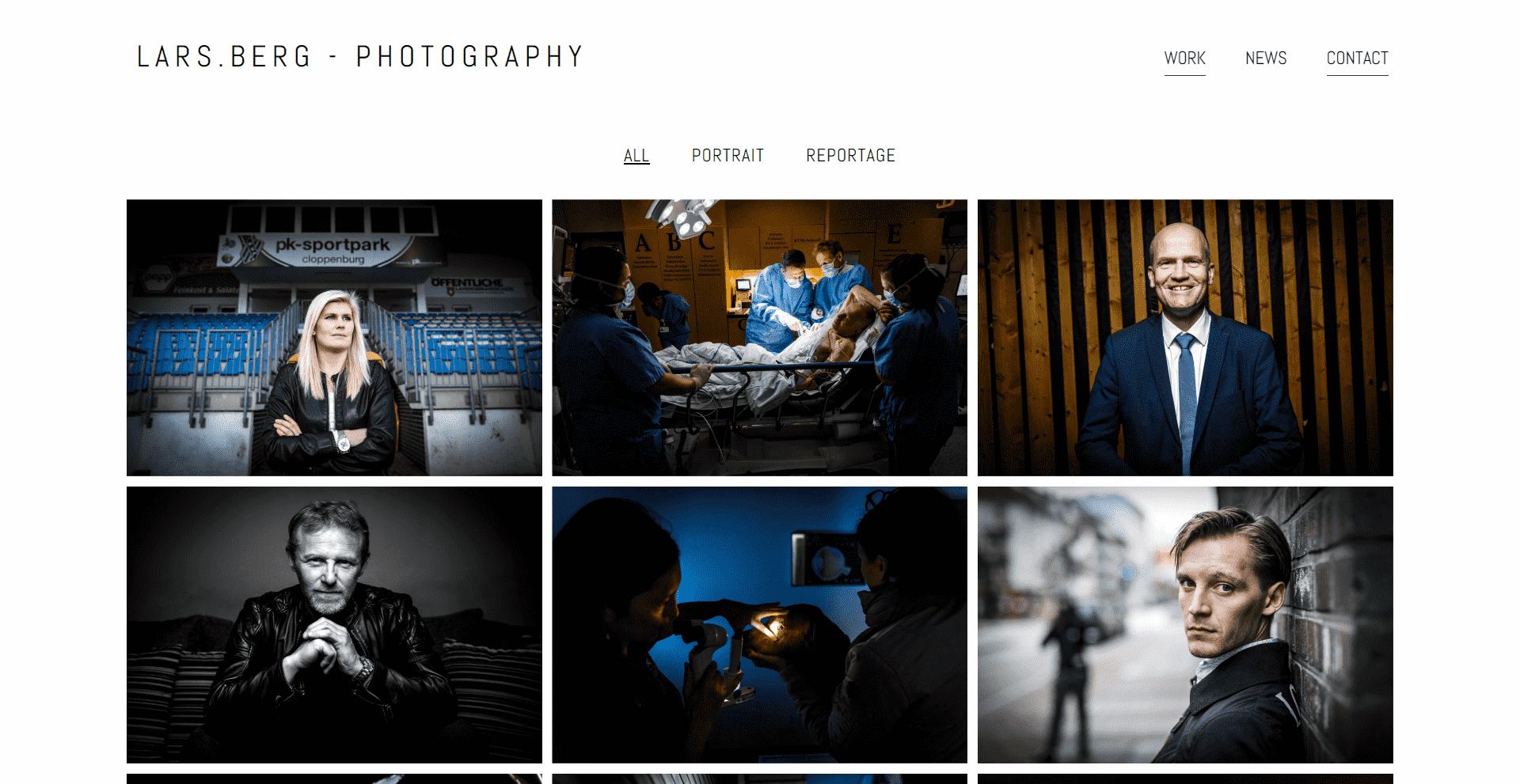 Lars Berg - Photography - WordPress Webdesign Referenz