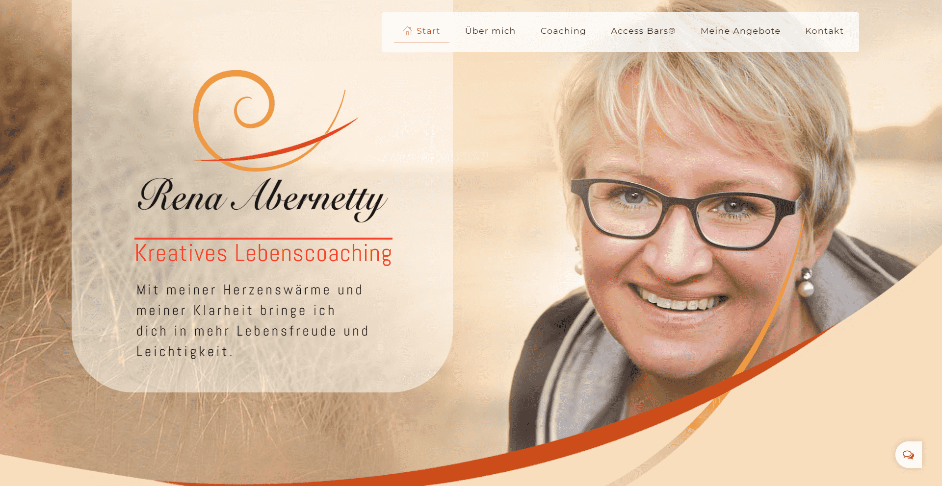 Rena Abernetty - Life Coach, Münster | WordPress Webdesign Referenz