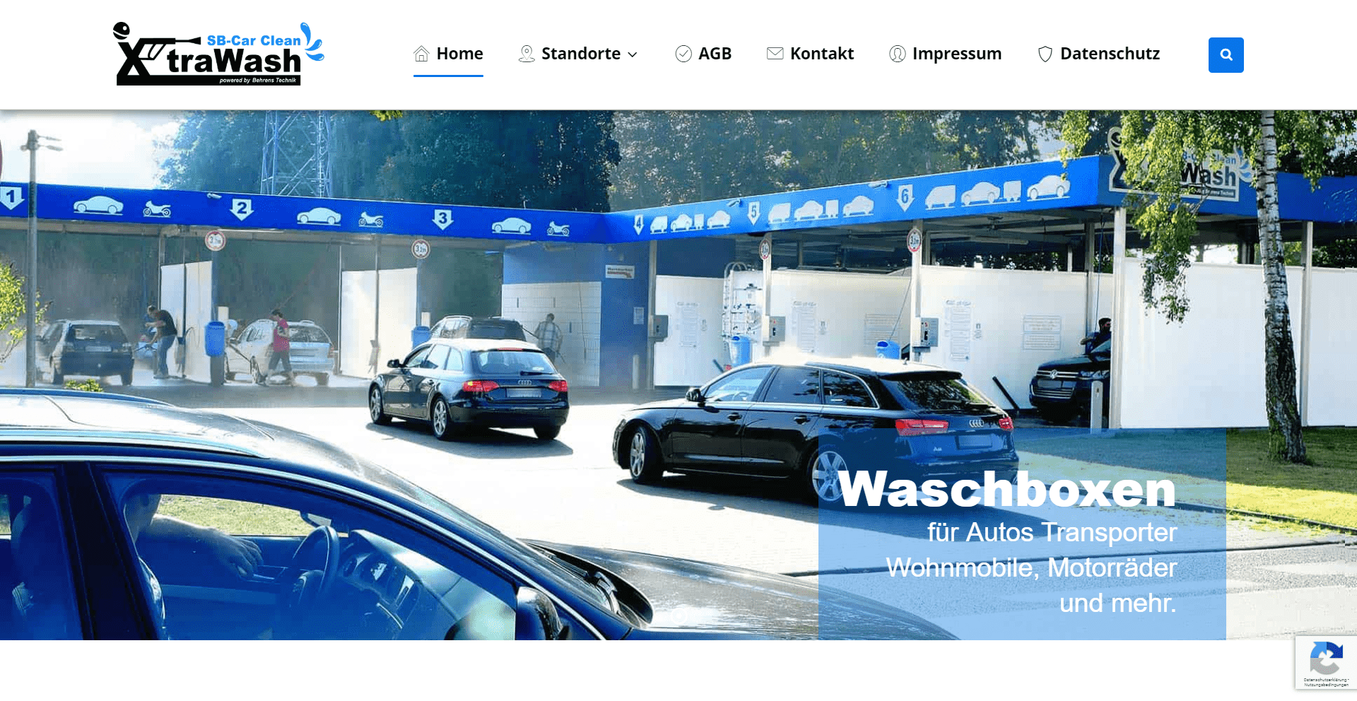 XtraWash - SB Autowäsche | WordPress Webdesign Referenz